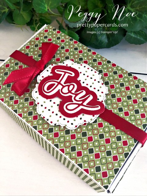 Mini Holiday Gift Box Stampin' Up! Peggy Noe
