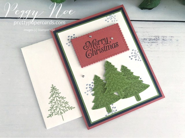 #perfectlyplaid #perfectlyplaidstampset #peggynoe #prettypapercards #stampinup #Christmascard