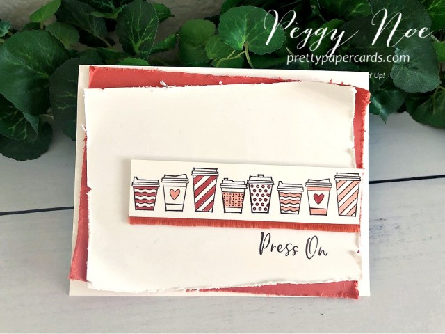 #stampinup #stampingup #presson #pressonstampset #cofffeecups #coffeecupstampset #peggynoe #prettypapercards