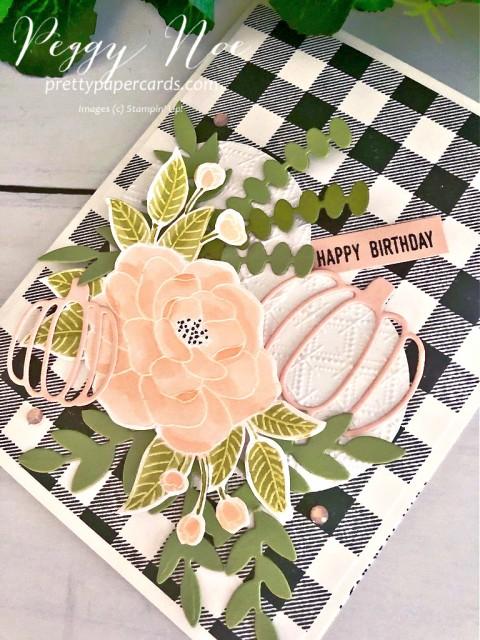 #somuchlove #stampinup #peggynoe #prettypapercards #buffalochecks #birthdaycard