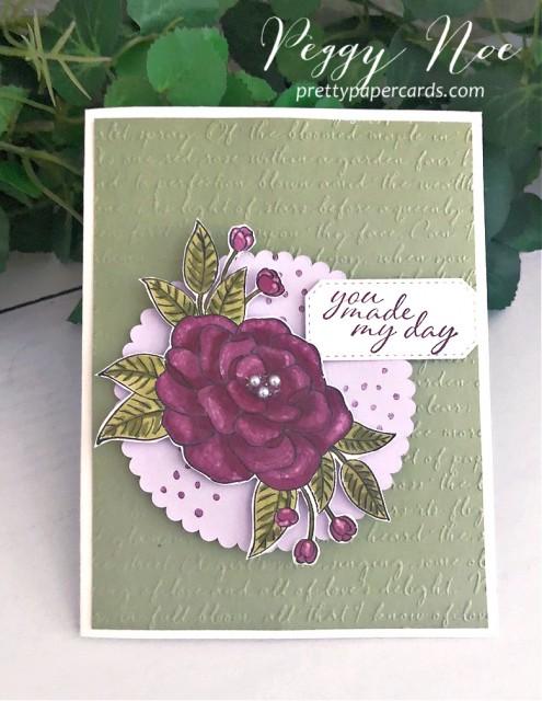 #somuchlove #stampinup #peggynoe #prettypapercards