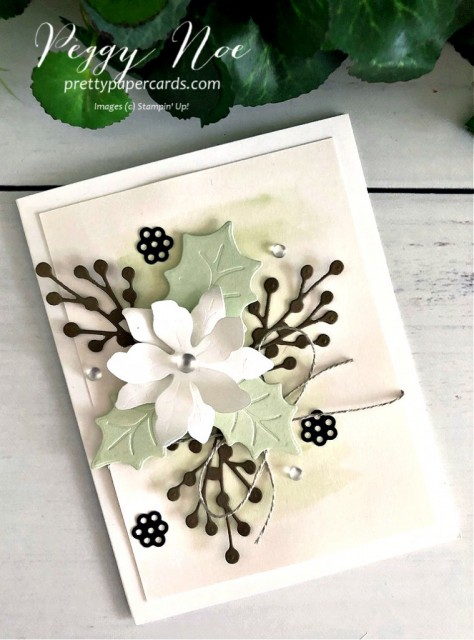#poinsettia #poinsettiapetals #poinsettiacard #stampinup #stampingup #peggynoe #prettypapercards