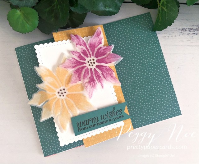 #poinsettia #zfoldcard #poinsettiapetals #stampinup #peggynoe #prettypapercards