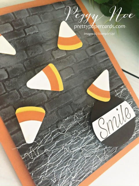 Candy Corn Card Stampin' Up! Pretty Paper Cardw