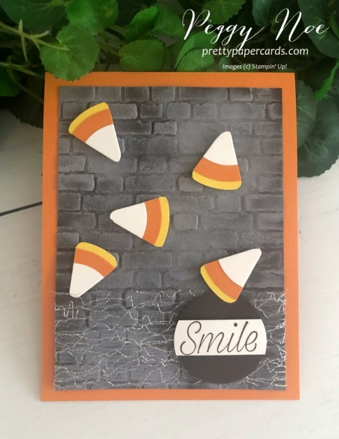Candy Corn Spooky Card Stampin' Up! Peggy Noe