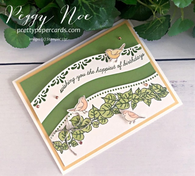 Handmade holiday and birthday cards created with the Curvy Celebrations Suite by Stampin' Up! designed by Peggy Noe of prettypapercards.com