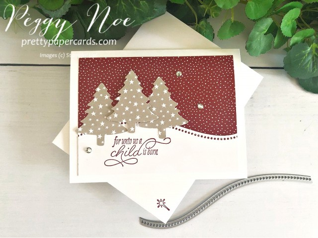 Curvy Christmas Card Stampin' Up! Pretty Paper Cards