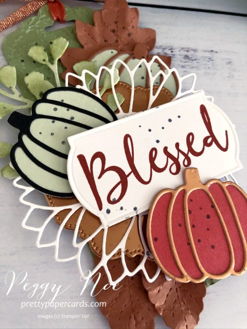 Fall Tag made with Wild Rose Stamp Set, Autumn Essentials Dies and Sunflower Dies by Stampin' Up! Peggy Noe of Pretty Paper Cards