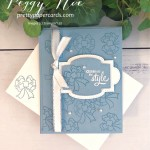 Gift Wrapped Card and Stamp Set by Stampin