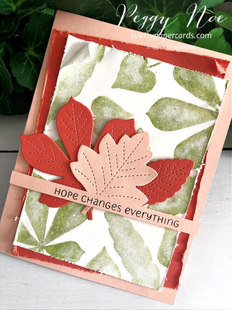 Lots of Leaves Card Stampin' Up! Peggy Noe