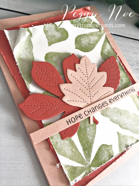 Love of Leaves Card Stampin' Up! Pretty Paper Cards
