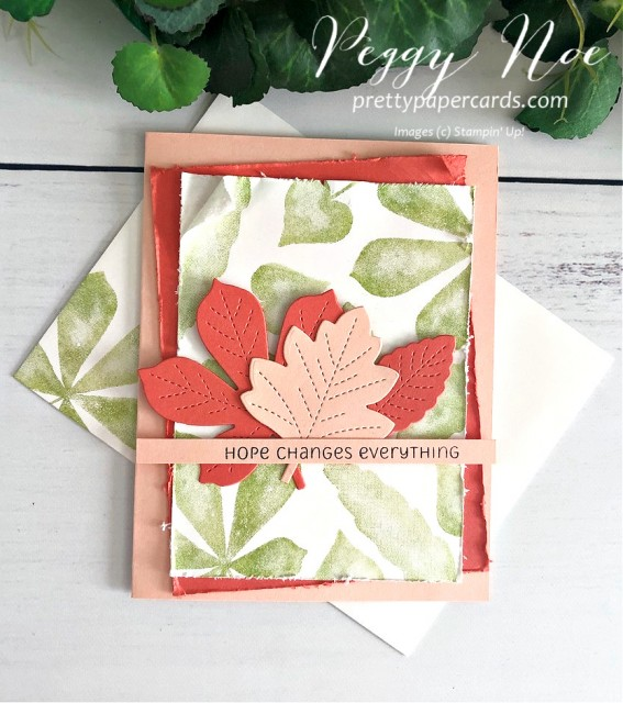 Lots of Leaves Stampin' Up! Pretty Paper Cards