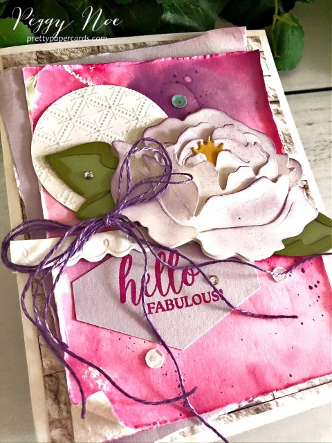 Hello Fabulous using Dressed to Impress Stamp Set by Stampin' Up! by Peggy Noe of prettypapercards.com #dressedtoimpress #hellofabulous