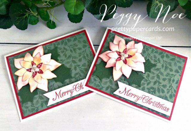 Poppy Poinsettia Petals Stampin' Up! Pretty Paper Cards