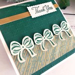 Handmade Square Thank You Card using the Gift Wrapped stamp set by Stampin