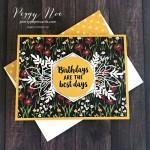 Handmade birthday card using Stampin