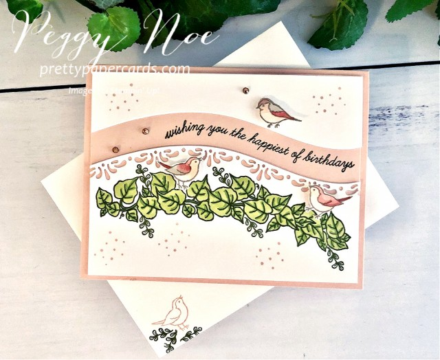 Curvy Celebrations Birthday Card Stampin' Up! by Peggy Noe of Pretty Paper Cards #birthdaycard #curvycelebrations #quitecurvy