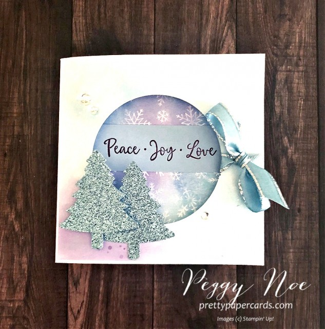 Handmade Holiday Card using the Dove of Hope stamp set by Stampin' Up! designed by Peggy Noe prettypapercards.com #doveofhope #holidaycard #fancyfold