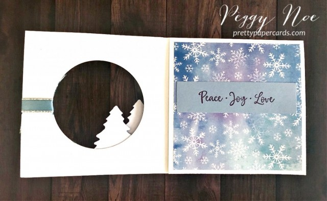 Handmade Holiday Card using the Dove of Hope stamp set by Stampin' Up! designed by Peggy Noe of prettypapercards.com #doveofhope #holidaycard #fancyfold