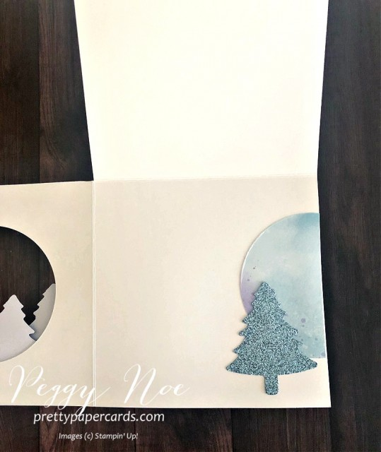 Handmade Holiday Card featuring the Dove of Hope stamp set by Stampin' Up! designed by Peggy Noe of prettypapercards.com #doveofhope #holidaycards #fancyfold