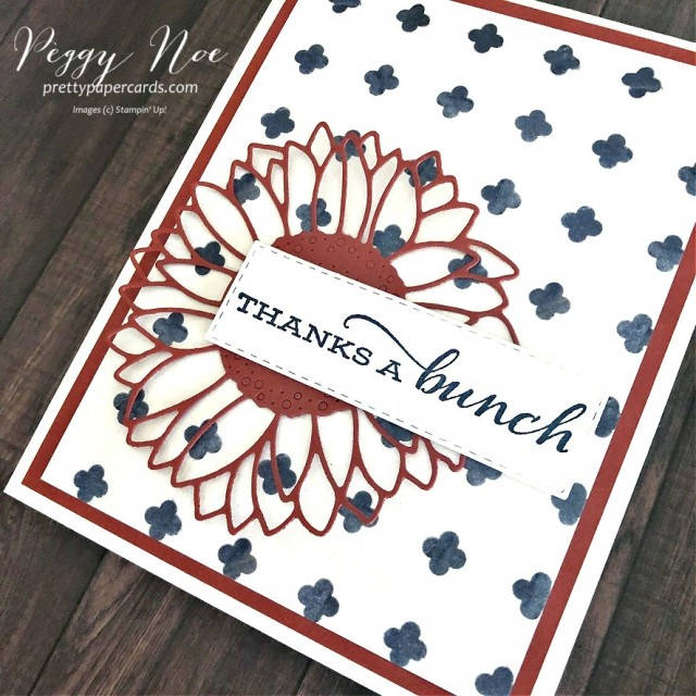 Handmade Thanks a Bunch Cards designed by Peggy Noe of prettypapercards
