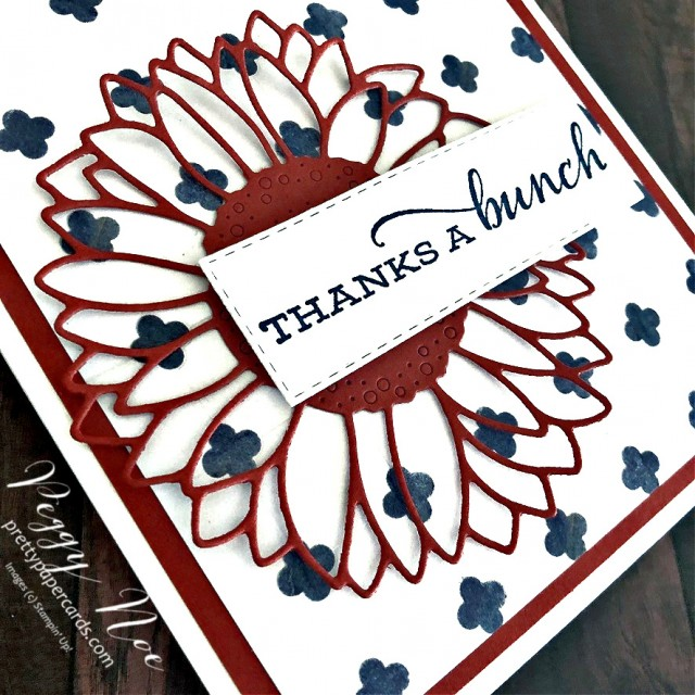 Handmade Thanks a Bunch Cards now available designed by Peggy Noe of prettypapercards