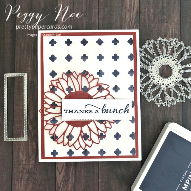 Handmade Thanks a bunch Thank You Cards designed by Peggy Noe of prettypapercards #celebratesunflowers #thankyou #thankyoucard