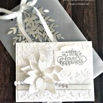 Poinsettia Petals Wedding Card using the Stampin