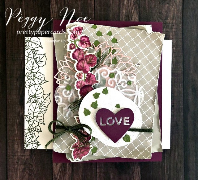 Handmade card using the Quite Curvy stamp set; designed by Peggy Noe of prettypapercards.com; Stampin' Up!