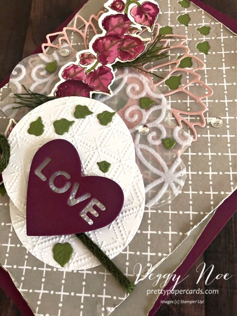 Quite Curvy Love Card Pretty Paper Cards Stampin' Up!