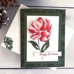 Handmade Floral Art Gallery Christmas Card by Peggy Noe of Prettypapercards.com using Stampin