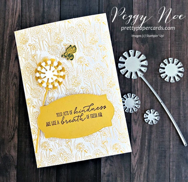 Dandy Garden Suite by Stampin' Up! Friend Card designed by Peggy Noe of prettypapercards.com #dandygarden #stampinup