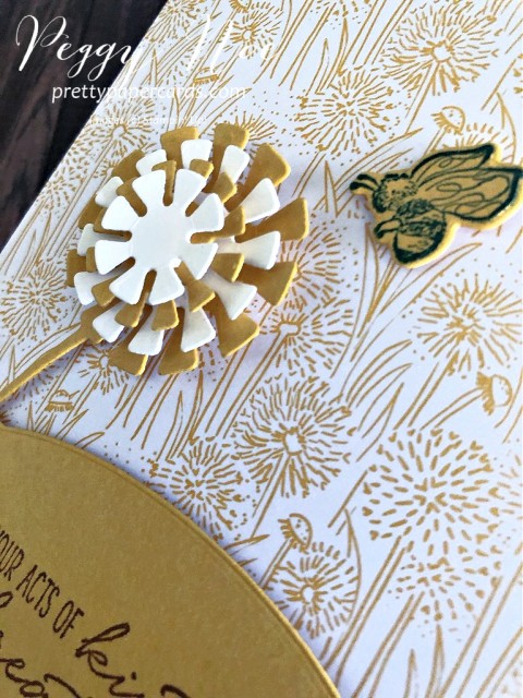 Dandy Garden Suite by Stampin' Up! Dragonfly Friend Card designed by Peggy Noe of prettypapercards.com #dandygarden #stampinup #friendcard