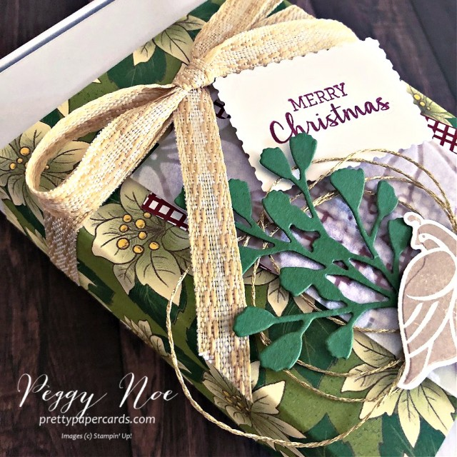 Partridge in a Pear Tree created with the Stampin' Up!Arrange a Wreath Bundle designed by Peggy Noe of prettypapercards.com #partridgeinapeartree #minipaperpumpkin #peggynoe #arrangeawreath #stampinupChristmas