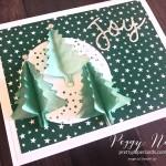 Handmade holiday card created using Stampin