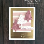 Pink Christmas Trees Card using Stampin