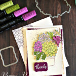 Handmade thank you card made with the Stampin