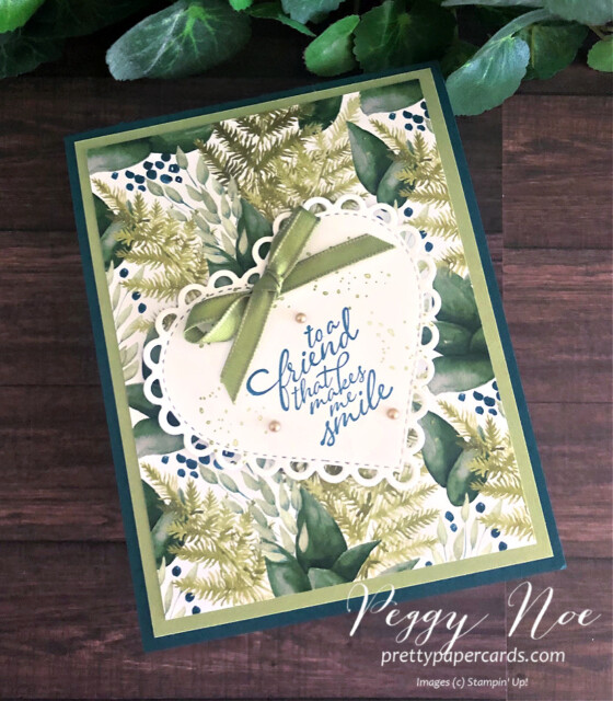 Handmade 3D Step Card using the Forever Greenery Suite by Stampin' Up! created by Peggy Noe of prettypapercards.com #stepcard #forevergreenery #peggynoe #prettypapercards