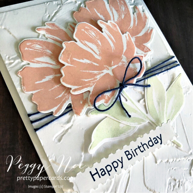 Handmade Birthday Card using the Fine Art Floral Suite by Stampin' Up! designed by Peggy Noe of prettypapercards.com #artgallery #birthdaycard #peggynoe #prettypapercards