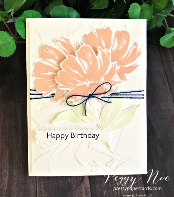 Handmade Birthday Card using the Art Gallery Stamp Set by Stampin' Up! designed by Peggy Noe prettypapercards.com #artgallery #birthdaycard #peggynoe