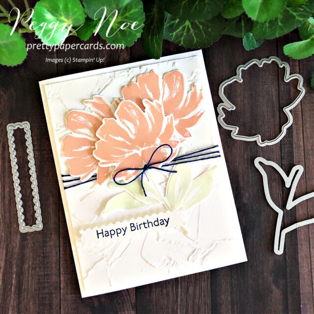 Handmade Birthday Card using the Art Gallery Stamp Set by Stampin' Up! designed by Peggy Noe of prettypapercards.com #artgallery #birthdaycard #peggynoe