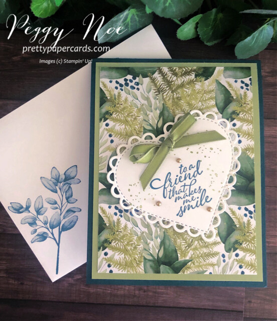 #Handmade 3D Fancy Fold Card using the Forever Greenery Suite by Stampin' Up! created by Peggy Noe of prettypapercards.com #stepcard #forevergreenery #peggynoe #prettypapercards #fancyfold