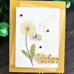 Handmade Dandelion Card made with the Garden Wishes Bundle by Stampin