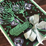 Handmade best wishes card uses Garden Wishes Bundle by Stampin