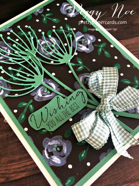 Handmade best wishes card uses Garden Wishes Bundle by Stampin' Up! designed by Peggy Noe of prettypapercards.com #gardenwishes #gardenwishesbundle #peggynoe