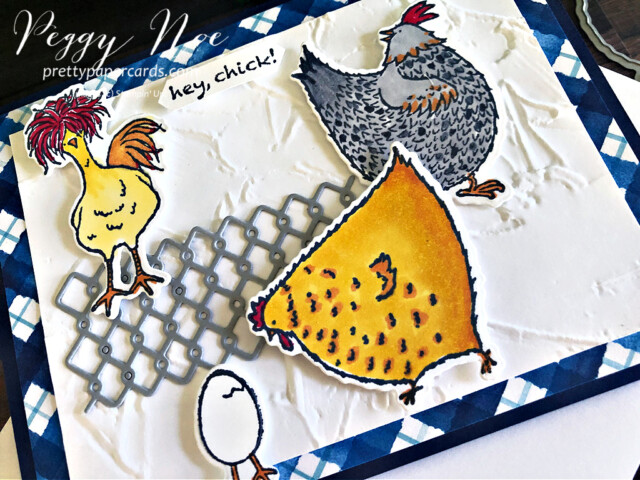 Handmade card featuring the Hey Chick Bundle by Stampin' Up! designed by Peggy Noe of Pretty Paper Cards #heychick #heychickbundle #peggynoe #prettypapercards