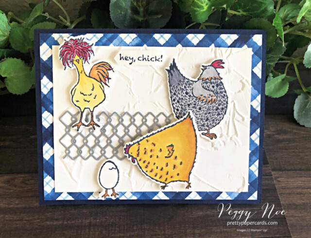 Handmade any occasion card featuring the Hey Chick Bundle by Stampin' Up! designed by Peggy Noe of Pretty Paper Cards #heychick #heychickbundle #peggynoe #prettypapercards