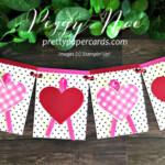 Handmade Valentine Banner using the Stampin