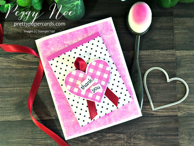 Handmade Valentine Card using the Stampin' Up! Lots of Heart Bundle designed by Peggy Noe prettypapercards.com #peggynoe #lotsofheart #valentinebanner #prettypapercards.com