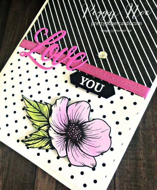 Love You Card using the Forever & Always Bundle and True Love Paper by Stampin' Up! GDP274 by Peggy Noe of prettypapercards.com #truelove #forever&alwaysbundle #prettypapercards